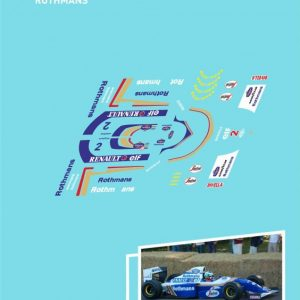 Decalque, Atalaya Decals, completo p/NSR F1 86-89 Rothmans