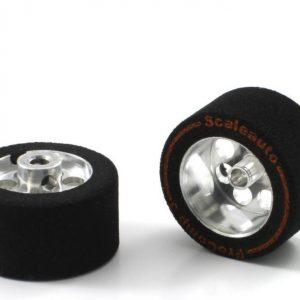 Roda, Scaleauto, de espuma 24.5 x13mm Procomp-3 para eixo 3mm. Jante ø17mm