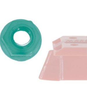 Porca em nylon c/parafuso M2 para Guia 3/16 (1/24)