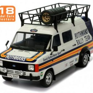 1:18 Ford Transit MK2 Rothmans Rally Team (with roof accessories)