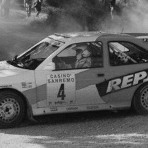 Ford Escort RS Cosworth, #4, Rally San Remo, C.Sainz/L.Moya, 1996