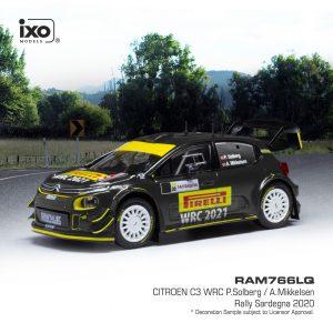 Citröen C3 WRC, Rally da Sardenha, P.Solberg/A.Mikkelsen, 2020