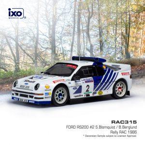 Ford RS200 #2 RAC Rally 1986 S. Blomqvist/ B. Berglund