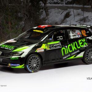VW Polo GTi R5 #42, O. Burri/ A. Levratti, Rally Monte-Carlo 2020