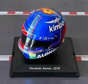Mini Helmet Fernando Alonso – 2018 – Escala 1/8