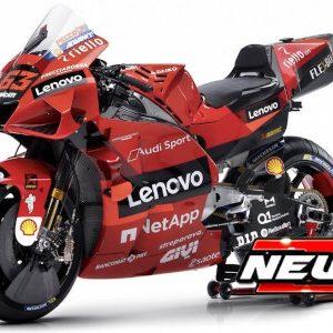 Ducati Desmosedici GP21, #63, Ducati Lenovo team, MotoGP, F. Bagnaia, 2021