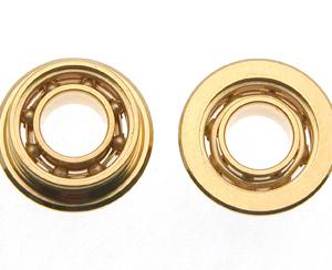 Rolamentos de bolas 6mm p/eixos 3mm. Dourados