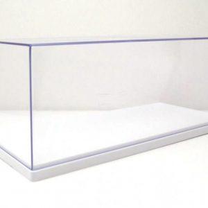Caixa acrílica para exposição de miniatura à escala 1/24 base branca