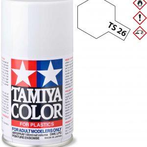 Tinta spray 100ml. branco Tamiya TS-26