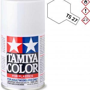 Tinta spray 100ml. branco mate Tamiya TS-27