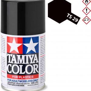 Tinta spray 100ml. preto semi mate Tamiya TS-29