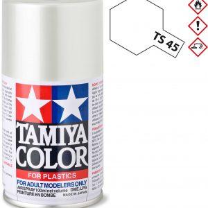 Tinta spray 100ml. branco pérola Tamiya TS-45