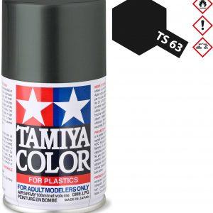 Tinta spray 100ml. preto NATO Tamiya TS-63
