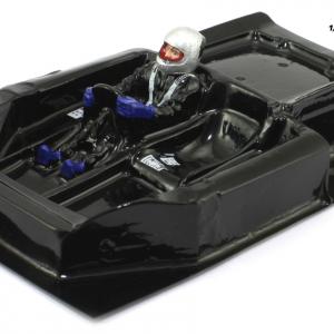Interior aligeirado 1/24 Clássicos Spyder 70s piloto lado direito (lexan + resina)