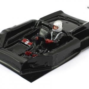 Interior aligeirado 1/24 Clássicos Spyder 70s piloto lado esquerdo (lexan + resina)