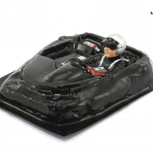 Interior aligeirado 1/24 Clássicos Spyder 60s piloto lado esquerdo (lexan + resina)